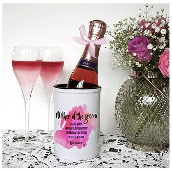 Personalised Mother of the Groom Miniature Champagne Bucket