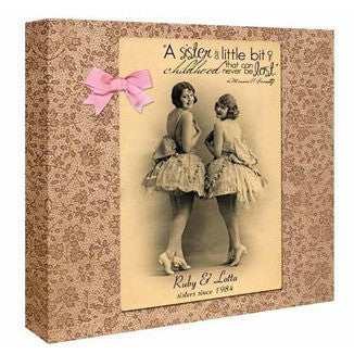 Personalised Vintage Sisters Canvas
