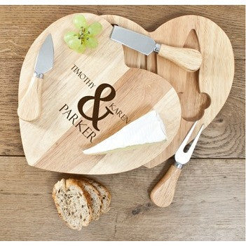 Romantic Heart Cheese Set