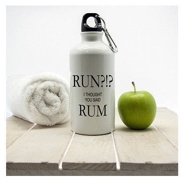 Run!? I Thought You Said Rum Personalised Water Bottle