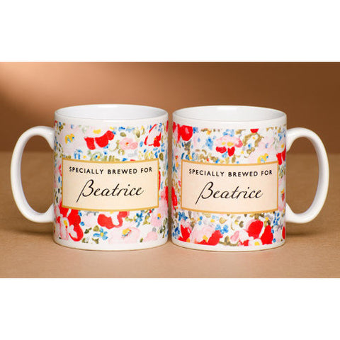 Personalised Tea Lover's Mug - Floral Design