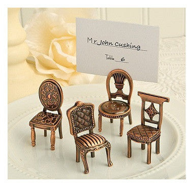 Vintage Retro-styled chair place card holders
