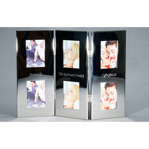 Tri Folding Engraved Photo Frame