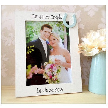 Wedding Frame White & Duck Egg