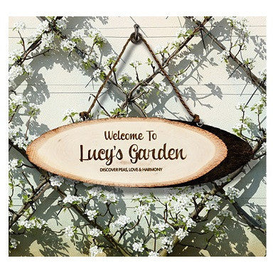 Welcome To My Garden Wooden Sign