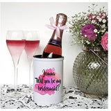Will You Be My Bridesmaid Personalised Miniature Champagne Bucket