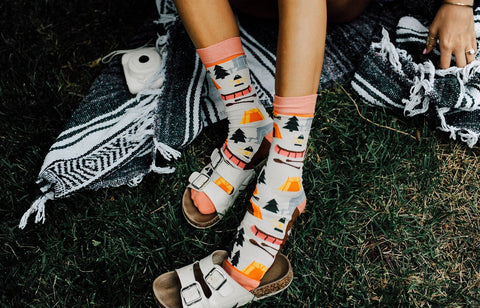 Womens Happy Camper Socks