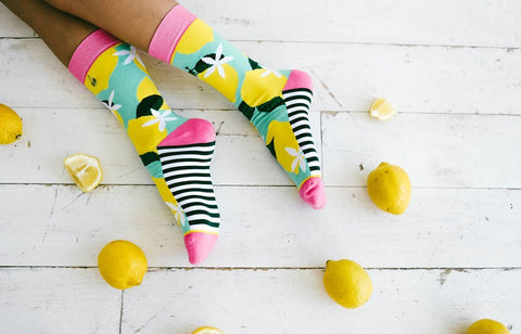 Womens Pink Lemonade Socks