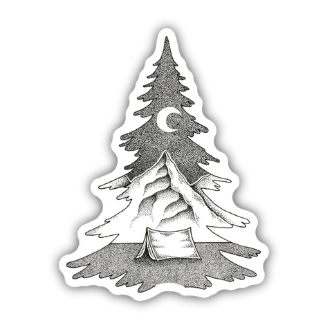 Tree Mountain Sticker