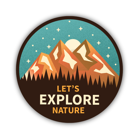 Let's Explore Sticker