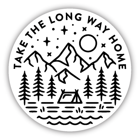 Take the Long Way Home Sticker
