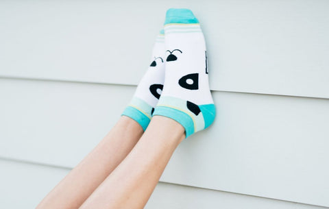 Womens Panda Ankle Socks