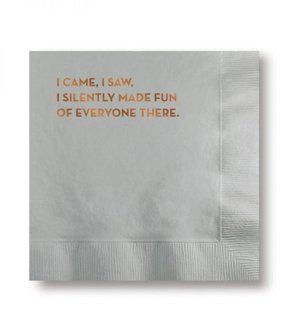I Came,  I Saw Napkins