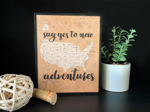 Say Yes to New Adventures Box Frame (4/case)