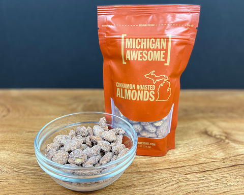 Cinnamon Roasted Almonds (CASE OF 12)