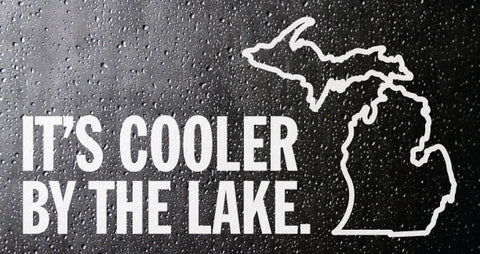 Cooler By the Lake White Vinyl Sticker (PACK OF 10)