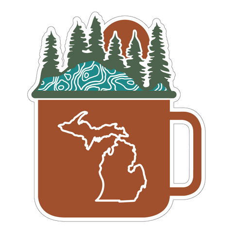 Cup of Michigan Die-Cut Sticker (PACK OF 10)