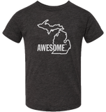 Michigan Awesome State Outline Kids T-Shirt