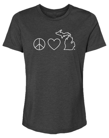 Peace Love Michigan Women's Relaxed Fit T