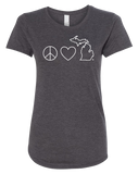 Peace Love Michigan Women's Scoopneck T