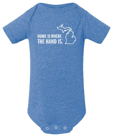 Home is Where the Hand Is Baby Onesie