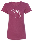 Michigan Pixels Women's Scoopneck T