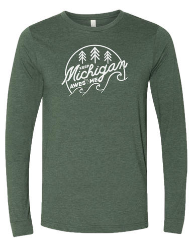Keep Michigan Awesome Long Sleeve T-Shirt