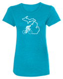 Bike Michigan Women's Scoopneck T