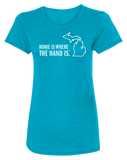 Home is Where the Hand is Women's Scoopneck T