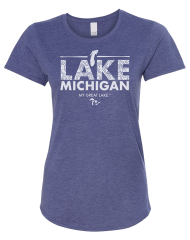 My Great Lake Michigan Women's Scoopneck T