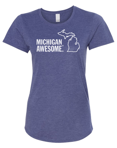 Michigan Awesome Women's Scoopneck T