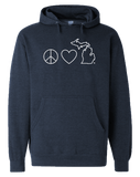 Peace Love Michigan Hoodie