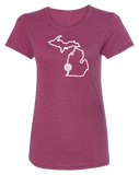 Golf Michigan Women's Scoopneck T