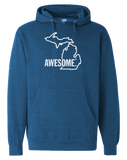 Michigan Awesome State Outline Hoodie