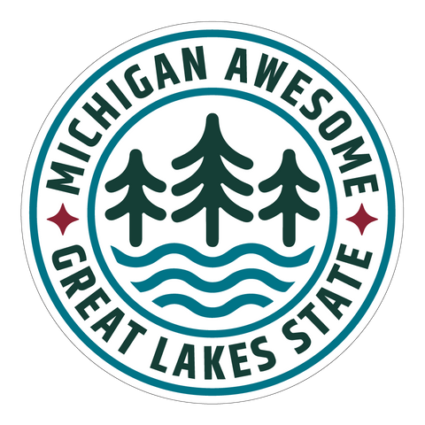 Great Lakes Icon Circle Sticker (PACK OF 10)