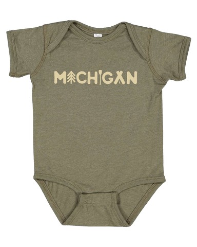 Michigan Outdoors Onesie