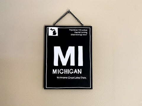 "Michigan ""Facts"" Plaque (4/case)"