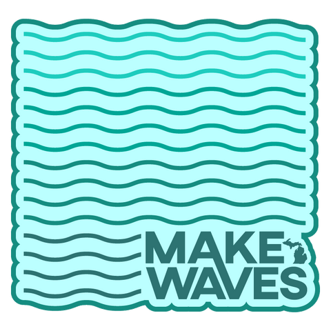 Make Waves Die-Cut Vinyl Stickers (Pack of 10)