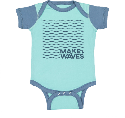 Make Waves Color Block Onesie