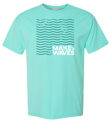 Make Waves Pigment Dyed T