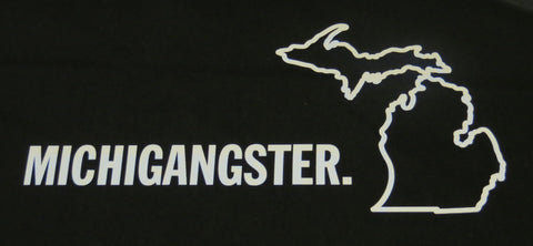 Michigangster White Vinyl Sticker (Pack of 10)
