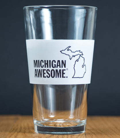 Michigan Awesome Pint Glass