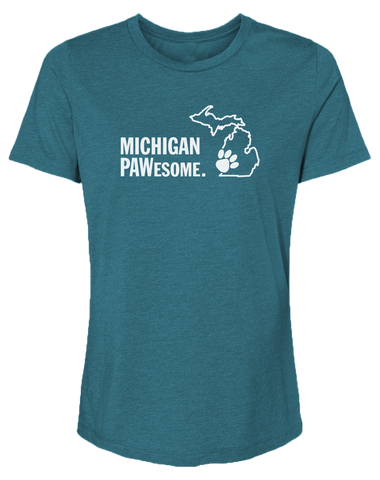 Michigan PAWesome Women's Relaxed Fit T