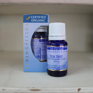 Springfields Certified Organic Tea Tree 11ml Pure Essential Oil