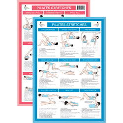 Pilates Stretches Mini Chart