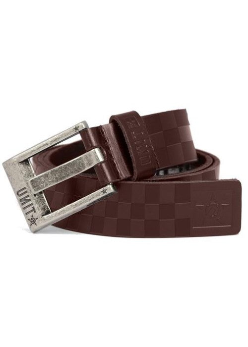 Checkers Leather Belt
