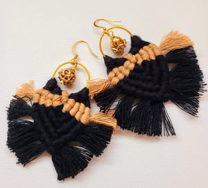 Two-Toned Fringe Earrings