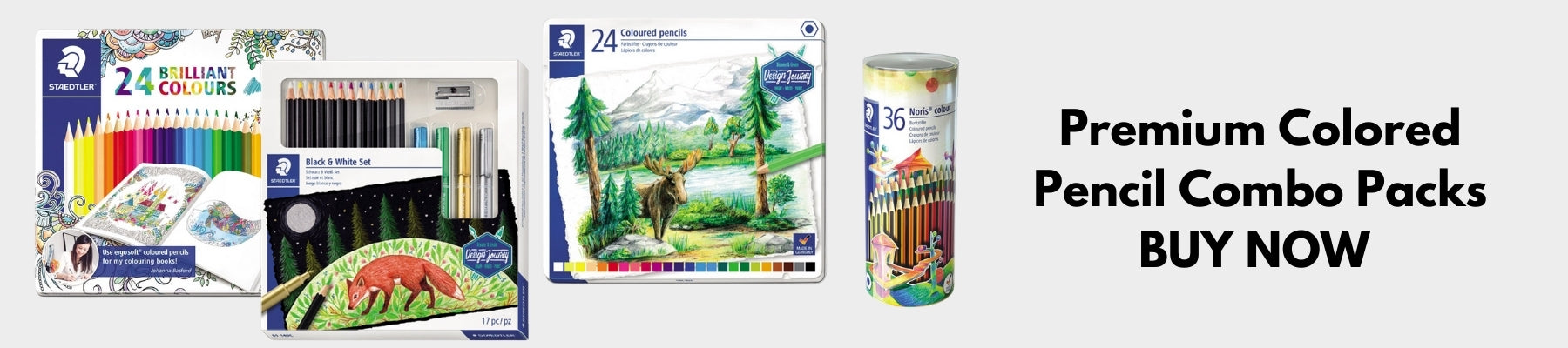 Buy premium color pencil combo packs for best price in Abu Dhabi, Dubai - UAE | Faber Castell, Staedtler Pigmented Color Pencils for Art Drawing from najmaonline.com