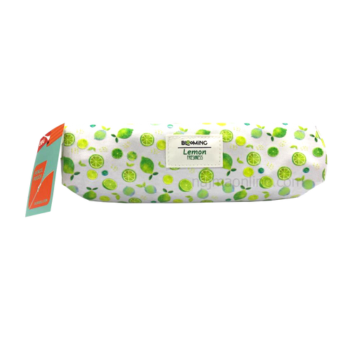 White and Green Color Pencil Case