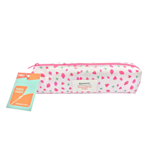 White and Pink Color Pencil Case